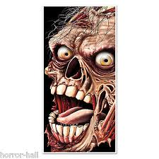 Creepy <b>Giant</b> ZOMBIE HEAD FACE DOOR COVER MURAL ...