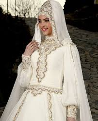 hijabi brides wedding dress