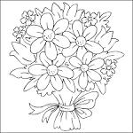 Раскраска красивого букета цветов