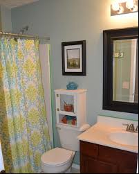 green and blue bathroom