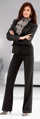 best images about wide leg pant suits pants beige suede heels w silver throats charcoal pantsuit beige print fringed scarf pink lips silver hoop earrings shoulderlength brown hair hazel eyes