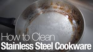 How to <b>clean stainless steel</b> cookware - YouTube