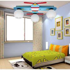 plane model childrens bedroom ceiling lights boy room lamps glass wood creative rural cartoon kids children bedroom lighting
