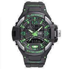 Fashion Brand <b>Smael Watch</b> Men Sports <b>Watches</b> Dual Time Analog ...