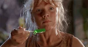 MRW I'm trying to eat Jello and see a velociraptor behind my ... via Relatably.com