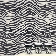 bath accessories set black zebra animal