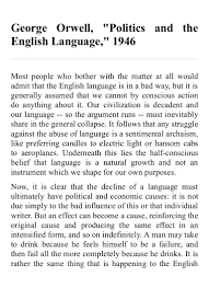 politics and the english language doc for kindle