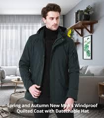 <b>ICEbear 2019</b> Autumn Mid Long Jacket <b>Men</b> Large Pocket Design ...