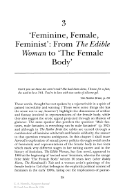 feminine female feminist from the edible w to the female inside