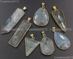 <b>Natural</b> Gemstones <b>Larvikite Labradorite</b> Healing Pendant ...