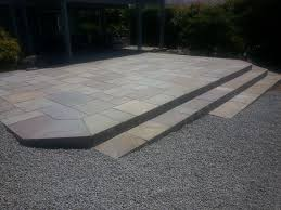 stone patio installation: transform your b patio    transform your b patio