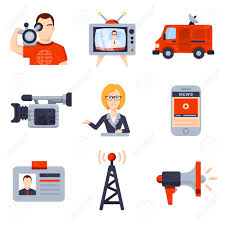 illustrations of flat icon set and modern information technology illustrations of flat icon set and modern information technology and news release journalist camera