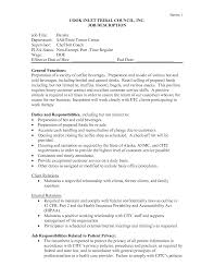 barista job description resume sample job and resume template barista duties resume sample