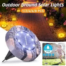 <b>8 LED Solar Lawn</b> Lamp Solar Power Buried Light Under Ground ...