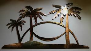tree scene metal wall art:  s l