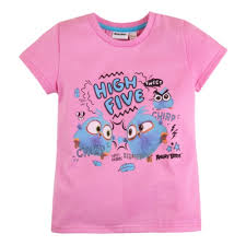 <b>Футболка</b> BOSSA NOVA 251АБ-161р Angry <b>Birds</b> для девочки ...