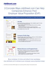 concrete ways jobstreet com can help companies enhance their js evp v2