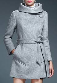<b>Stylish Turn-Down Neck Long</b> Sleeves Pocket Design Pure Color ...