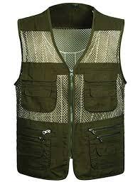 Flygo Men's Summer Mesh Fishing Vest Photography Work Multi ...