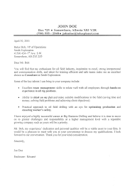 oil field cover letter sample cover letter consulting