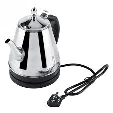 1L <b>304 Stainless Steel Electric</b> Kettle Fast Water Heating Boiling Pot ...