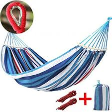 1 Person Rainbow Garden Hammock Camping Strong Thick ...