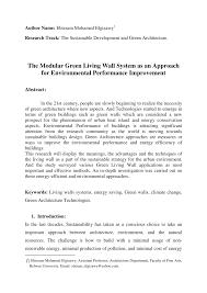 (PDF) The <b>Modular</b> Green <b>Living Wall</b> System as an Approach for ...