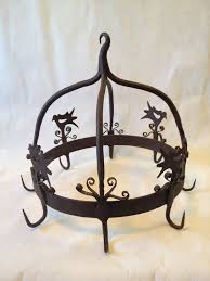 antique wrought iron pot rack antique wrought iron game meat hook pot rack