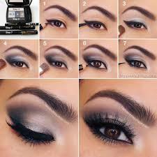 grey smoky eye makeup tutorial