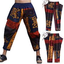 Mens <b>New</b> Ethnic Hot Harem Boho <b>Retro Yoga</b> Printed Pants ...