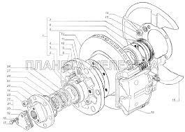 <b>Ступица переднего колеса</b>, дисковый тормоз ГАЗель 4x4 ...