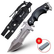 HX OUTDOORS Tiger Karambit <b>D2 steel</b> tactical straight knife wild ...
