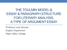 argumentative essay paragraph structurethe toulmin model  amp  essay  amp  paragraph structure for literary     the toulmin model
