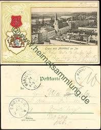 Mühldorf am Inn - Wappen - Verlag Adolf Dachs Mühlberg - Briefmarke entfernt ... - muehldorf-104