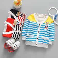 IENENS Spring <b>Kids Children Girls Boys</b> Striped Jackets Coats Baby ...