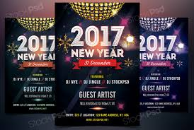 new year psd flyer template net holidays