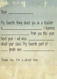 thank you letter to preschool teacher from student teacher teacher printable thank you note for preschoolers preschool teacher
