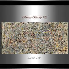 Huge Painting <b>Jackson Pollock Style</b>,Abstract Art wall art on canvas ...