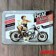 home decor plate x: pcs lot xcm motorcycle decorative plates metal signs home decor wall craftchina