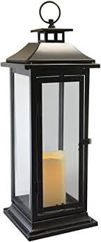 Lumabase 90401 Traditional Metal Lantern with <b>LED Candle</b>, <b>Black</b>