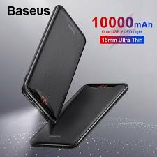 <b>BASEUS 10000mah</b> Dual USB <b>Power Bank</b> Portable Mobile Phone ...