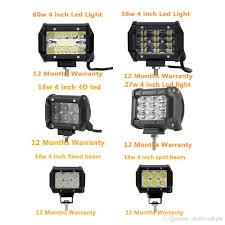 <b>ECAHAYAKU</b> 4 Inch 18W 27W <b>36W</b> 60W Led Work Light Bar Car ...
