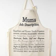mum s job description poem apron by bespoke verse mum s job description poem apron