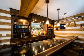 led recessed light fixture installed in bar back to create traditional effect back bar lighting