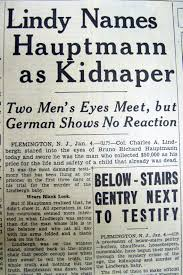 「Hauptmann and he was electrocuted in 1935」の画像検索結果