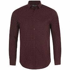 <b>Рубашка мужская BECKER MEN</b>, бордовая с белым купить по ...