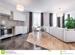 Of Living Room Interior Design Modern Interior Design Living Room With Kitchen Stock Photo