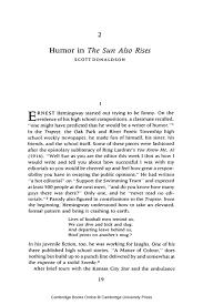 sun also rises hemingway pdf the sun also rises hemingway pdf