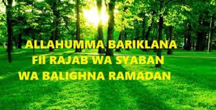Hasil carian imej untuk Doa di bulan Rejab