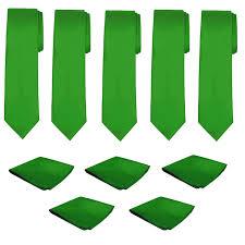 Mens Necktie Pocket Square 10 Pcs Set Solid Color ... - Amazon.com